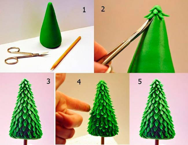 пластилиновая-елка