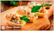 Тарталетки с начинкой – 10 самых вкусных рецептов на праздничный стол