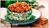 Салат с курицей и грибами – 8 классических и простых рецептов