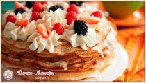 Блинный торт— 5 пошаговых рецептов приготовления в домашних условиях