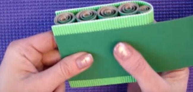 крепим-зеленый-картон