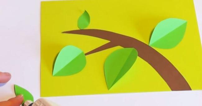 клеем-листочки