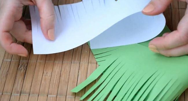сделали-травку-из-бумаги