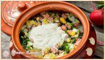 Окрошка с колбасой – 7 классических рецептов летнего супа