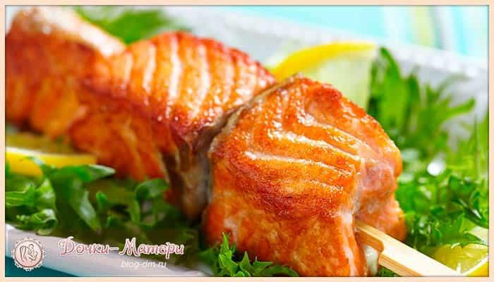 шашлык-из-рыбы-в-духовке
