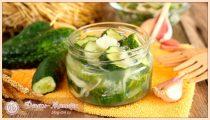 Салат из огурцов с петрушкой на зиму
