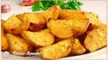 Молодая картошка, запеченная в духовке дольками