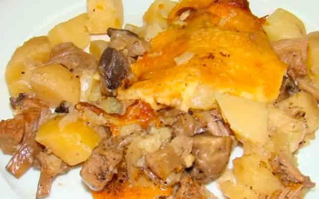 картофель-с-грибами-в-тыкве