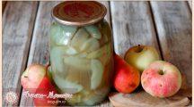 Компот из яблок на зиму: рецепты с целыми яблоками, дольками и ассорти