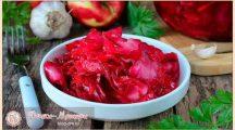 Маринованная капуста со свеклой — очень вкусные рецепты быстрого приготовления