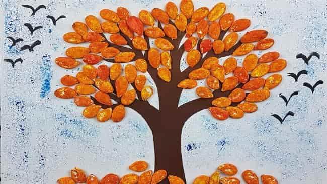 картина-из-тыквенных-семечек