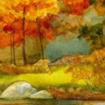 рисунок на тему осень
