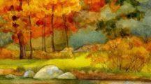 Как нарисовать осень легко и красиво в детский сад и школу
