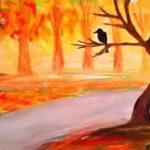 осенняя ветвь клена